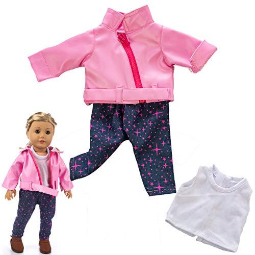 Omiky® Puppen Kleidung Gesetzt, Niedliche Kleidung Jacke Mantel Mädchen Spielzeug für 18-Zoll-Puppe Zubehör Gril Spielzeug, Amerikanisches Mädchen Puppenzubehör (Rosa) - 18 Für Puppen Mädchen