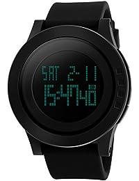 AMPM24 LED200+ZC306 - Reloj Hombre Digital LCD Cuarzo de Silicona Negro, Caja de AMPM24