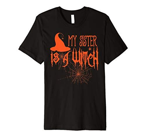 (Halloween Funny Shirt My Sister ist eine Hexe für Erwachsene & Kinder)