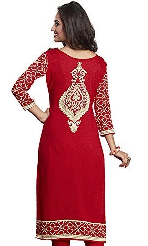 6a6641be902586 50% OFF on Dresses for women party wear Designer Dress Material Today best  offers buy online in Low Price Sale Red Color Cotton Fabric Free Size New  Salwar ...