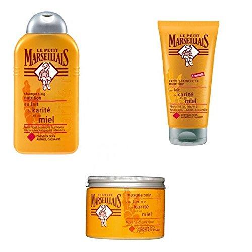 Le Petit Marseillais – Cheveux Kit d'entretien pour cheveux secs
