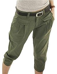 Minetom Femme Pantalons Courts 3 4 Sarouel Pantalons Mode Casual Lâche  Couleur Unie Chino Shorts Bureau… EUR 8 ... 3b6dd345ce1