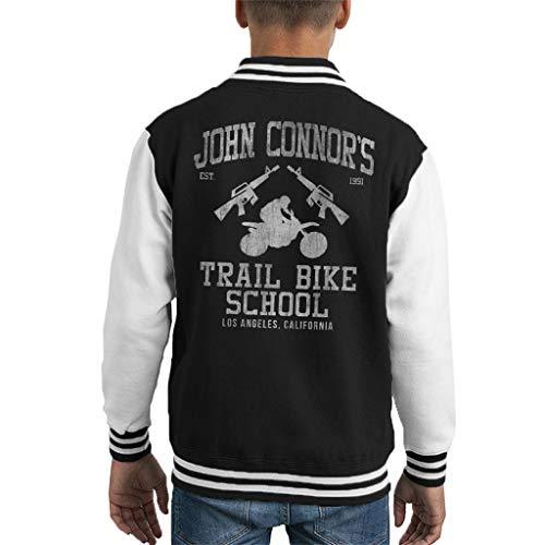 John Connors Trial Bike School Terminator Kid's Varsity Jacket