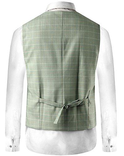 Hanayome - Gilet - Blouson - Col Chemise Classique - Sans Manche - 100 DEN - Homme green