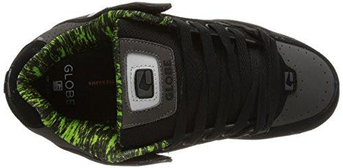 Globe Tilt Unisex-Erwachsene Sneakers Mehrfarbig (black/charcoal/lime)