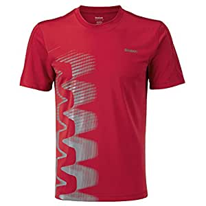 Reebok ZigTech PlayDry Mens Crew Neck Running T-Shirt - Red - M