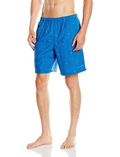 Columbia Herren Badehose Backcast II Printed Shorts Marine Blue Tossed Print