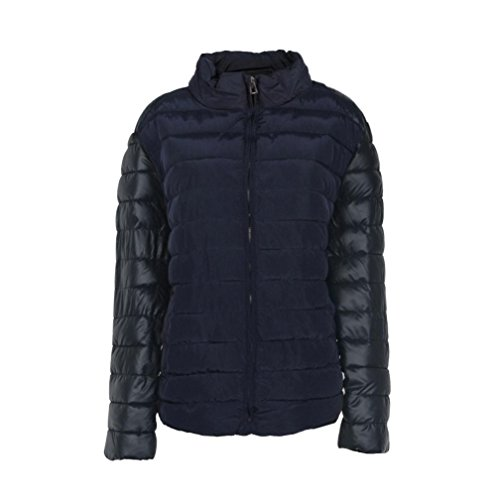 Switchali Herren Männer Winter Warm Slim Fit Daunenjacke Blau