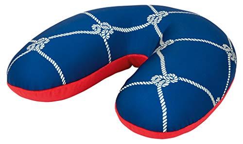 moses. Fernweh Nackenkissen Ankerplatz in blau für Reisen   2-in-1 Nackenhörnchen und Kopfkissen in blau Reisekissen, 34 cm, Marineblau