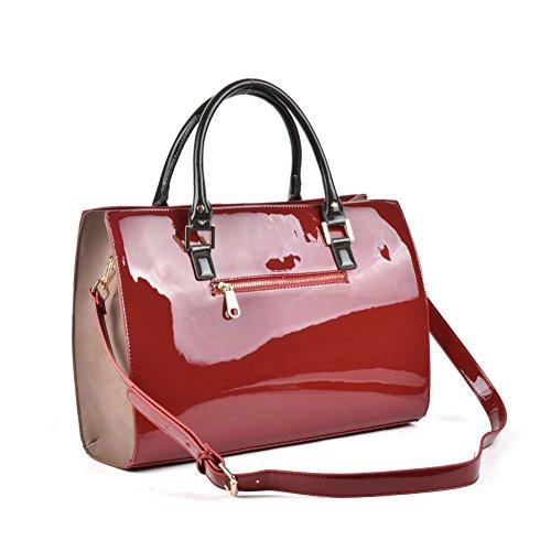 Premium Leather , Sac à main pour femme Red