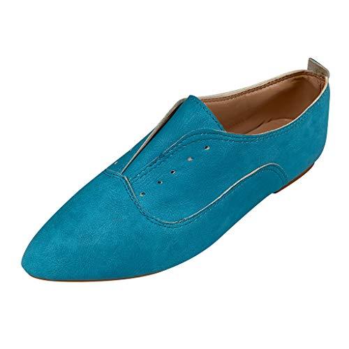 SEHRGUTGE Retro Oxfords Schuhe für Damen, Vintage Flats Lederschuhe, Schnürspitze Low-Cut-Handschuh Freizeitschuhe, Größe 4-8 (Nike Frauen Größe 8)
