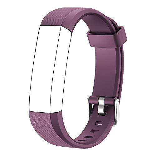 Muzili Verstellbares Ersatz-Armband für Fitness-Tracker, 5 Farben Schwarz, Pink, Grün, Blau, Violett, Violett