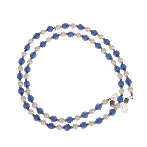Generic Reading Eyeglasses Sunglasses Spectacles Beads Chain & Lanyard - blue, Free Size