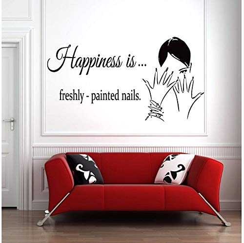 Zybnb smalto per unghie adesivo per parete adesivo perfinestra perunghiesalone di bellezza decor rimovibile nail art design poster per finestra a parete78x42cm