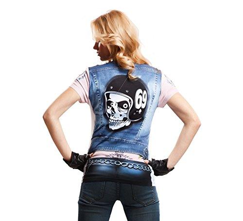 viving Kostüme viving costumes231121Motor Biker Girl Short Sleeve -