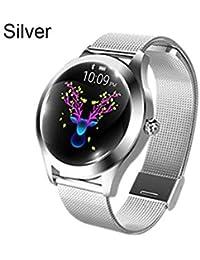 Smartwatch para Mujer, Modo multideportivo, Pulsera Inteligente, Correa de Acero, Reloj de Pulsera, Ritmo cardíaco y Seguimiento de Actividad, monitoreo del sueño, Cozy-TT