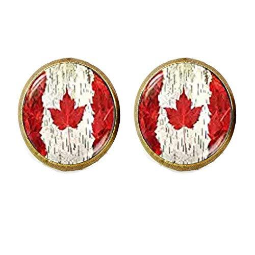 Ohrringe Kanada-Flagge, Toronto Ottawa Kanada Ahornblatt Flagge Ohrringe