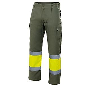 Velilla 157/C140/T3XL Pantalón de alta visibilidad, Azul y amarillo fluorescente, XXXL