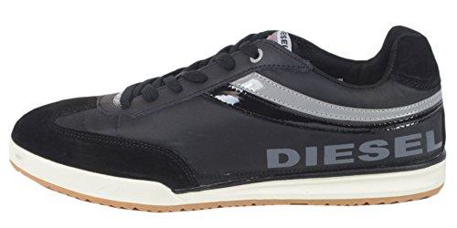 Diesel Country Ct-303 - Sneaker Da Uomo Con Scarpe Sportive In Pelle Scamosciata Nere