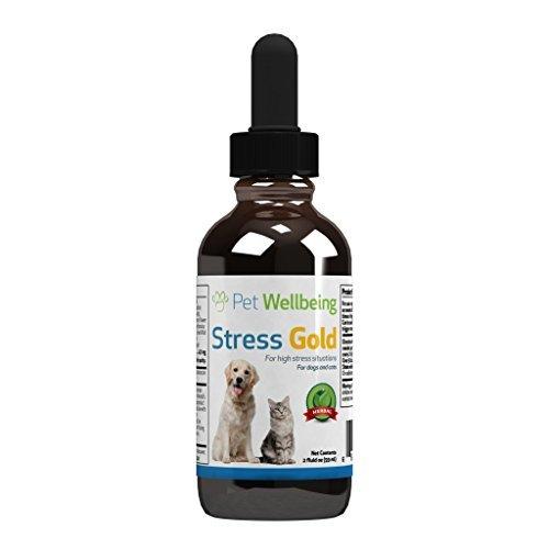 Pet Wellbeing - Lo Stress D'Oro Per I Gatti - Gatto Organico Naturale Calmante E L'Ansia Di Soccorso - Per Le Situazioni Stressanti In Felini - 2 Oz (59Ml)