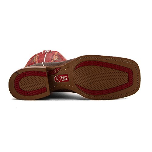 Tony Lama 3R1127 Cuir Santiags Red-Brown