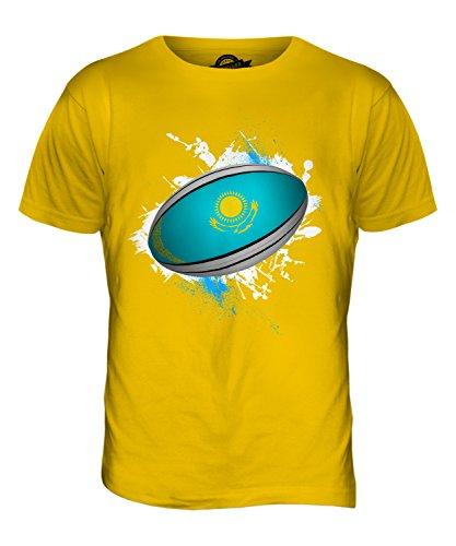 CandyMix Kasachstan Rugby Ball Herren T Shirt Dunkelgelb