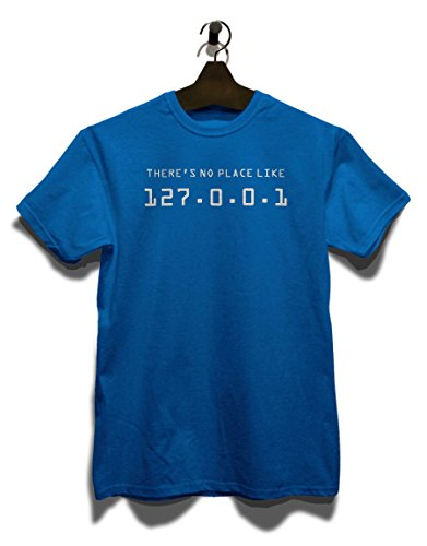 There Is No Place Like 127001 T-Shirt Royal Blau