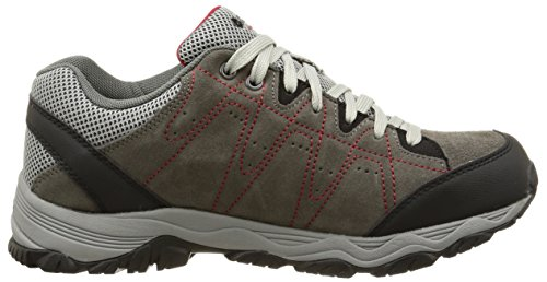 Hi-Tec Libero Ii Wp, Baskets Basses homme Rouge (Charcoal/Red)