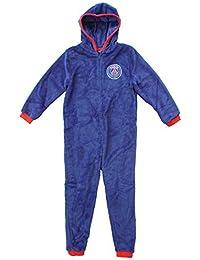 garçons officiel PSG PARIS SAINT GERMAIN à capuche polaire fermeture éclair pyjama combinaison tailles de 3 pour 12 An