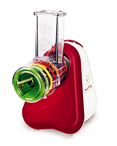 Moulinex DJ755G32 Robot Fresh Express Plus 5 cônes Rouge Rubis