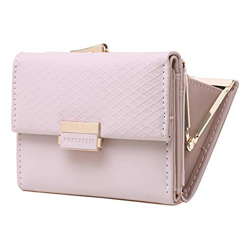 Geldbörse Damen KOOGOO Quaste PU Leder Multi-Slots Kartenhalter Mädchen Reißverschluss Klein Portemonnaie (Pink 2) - Womens Quaste