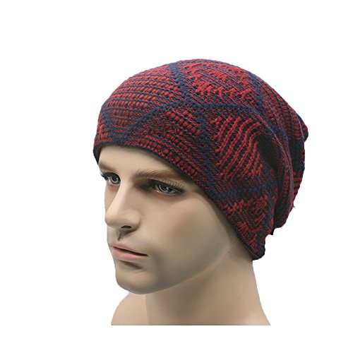 Slouchy Knit Beanie Matts Sci Caldo, Red
