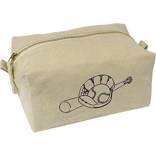 Azeeda 'Baseballschläger und Handschuh' Wasch/Make-up Tasche (CS00009221)