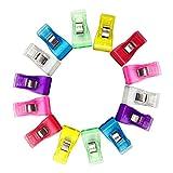 100pcs / Boîte moyenne taille Clips en plastique multicolore Clips couture Courtepointe Clips de reliure pour Crafting, Crochet et tricot - 3,3 x 1,8 cm
