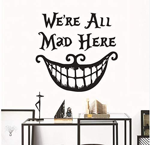 (Yirenfeng Diy Wandaufkleber HalloweenFliegen Hexen Lächelndes Gesicht Home Wand Dekoration Wasserdicht Abnehmbare Wandaufkleber)