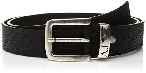 Armani Jeans 931508CC886, Cintura Uomo, Nero (Nero 00020), 100 cm