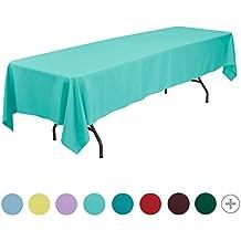 veeyoo redondo rectangular cuadrado sólido poliéster mantel boda Restaurante paño de mesa de fiesta, tela