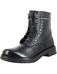 Saint G Black Leather Womens Ankle Boots/ Black Leather Ankle Boots For Womens (35, Black)