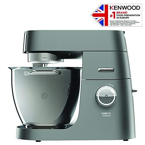 Kenwood KVL8472 Chef XL Titanium 1700-Watt Stand Mixer Blender (Silver)
