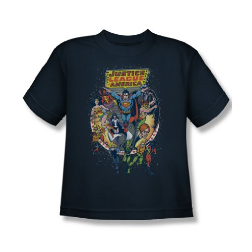 Justice League - Star-Gruppe Jugend-T-Shirt in Navy, X-Large (18-20), Navy