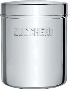 Alessi - UTA1383/Z - barattolo per zucchero in acciaio inossidabile 18/10 lucido.