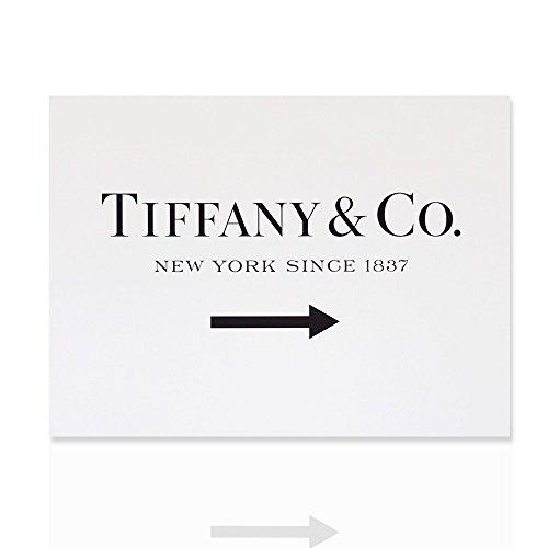 Moderne Malerei Tiffany & Co. in New York seit 1837 Glamour fertig zum Aufhängen Leinwand Moderne Kunst in Holz Frame Design - Colorscrazy (80x60)