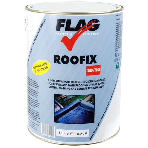 Roofix 20/10 (Multisurface) Roof & Gutter Repair 5 litre Black, Grey or White (Black) Test