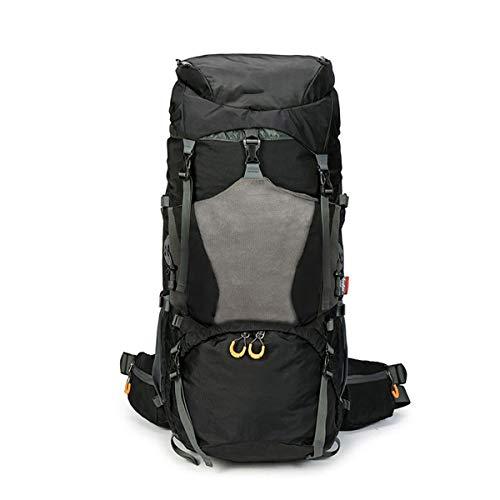 DDHXX Ultraleichte, Tragbare Rucksäcke Backpacks, Wandernder Bergsteiger-Rucksack 75L Unisex-Daypacks Für Draußen Wasserdichter Tagesrucksack Mit Großer Kapazität (Color : Schwarz) - Backcountry-ski-rucksäcke