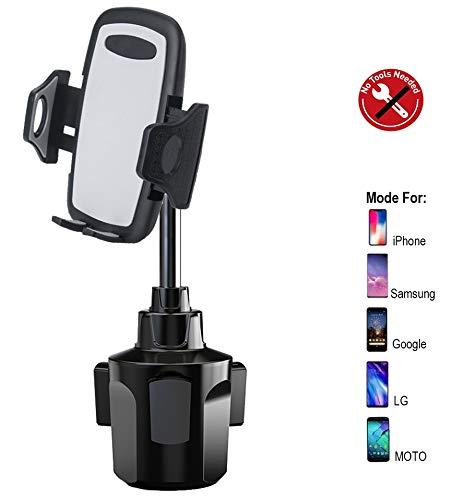 Lopnord Kfz-Halterung für Getränkehalter, Universal Cup Mount für 360 ° Drehbar Kompatibel mit iPhone XS Max XR X 8 Plus 7 6s 6 Plus Samsung Galaxy S10+ S10 S9+ S9 S8 S7 Note Andere Smartphone