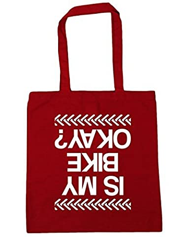 HippoWarehouse Is My Bike Okay? Tote Shopping Gym Beach Bag 42cm x38cm, 10 litres