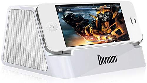 Divoom IFIT-2 W Tragbare Dockingstation für iPhone / iPod / iPad 2 mit  Basssteuerung, Weiß