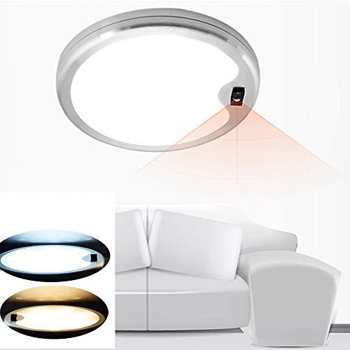 ZHENWOFC DC12V 5 Watt Runde Handwelle Sensor LED Schaltschrank Licht Aluminium Küche Kleiderschrank Zähler Lampe Innenlicht (Color : Warm White) - Küche Zähler Beleuchtung