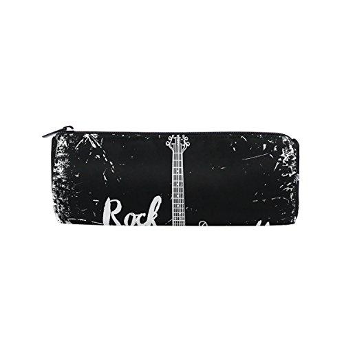 coosun E-Gitarre Rock und Roll Bleistift Fall Zylinder Form Stift Stationery Tasche Bag Kosmetik Make-up Tasche (Perfekte Bleistift-rock)