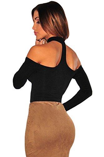 EOZY Body Wetlook Clubwear Stringbody Stretch Bodysuit Schwarz